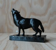 Flute block black wolf